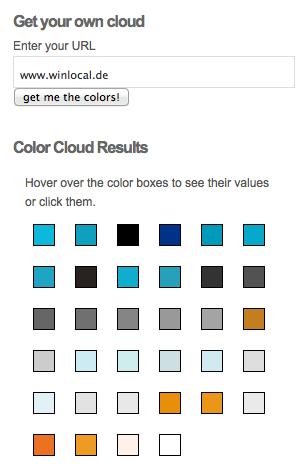 Farbumgebungen von Websites darstellen