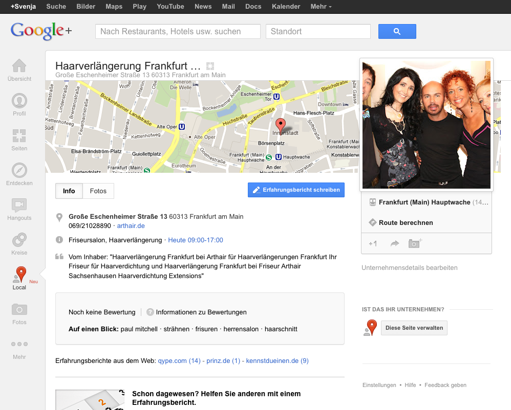Google Plus Local Neu