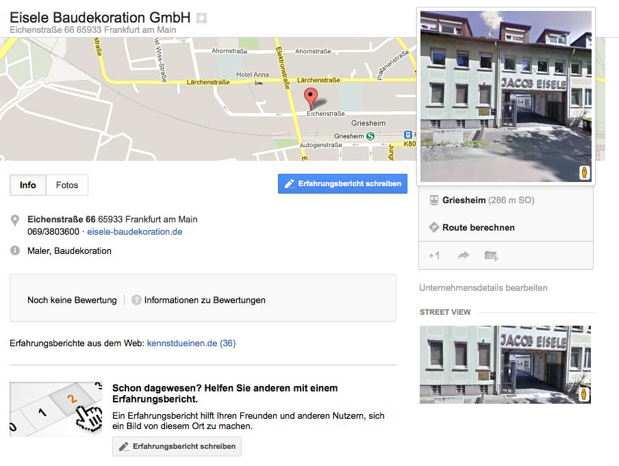Bilder Google Places Google Plus Local
