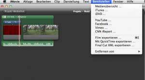 iMovie Datenexport