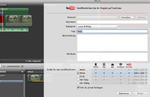 iMovie Datenexport Winlocal