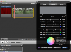 iMovie Videobearbeitung
