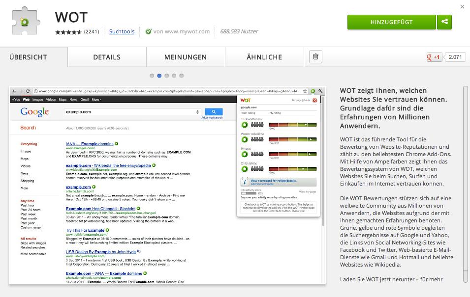 Nützliche Chrome Extensions
