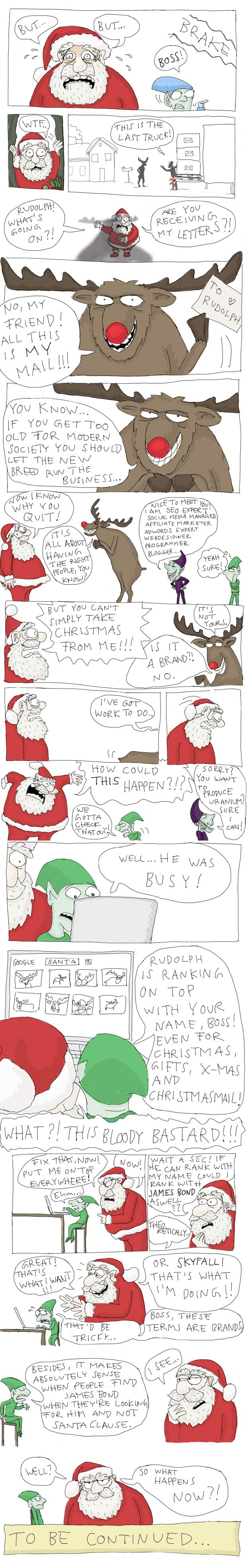 Santa and the Googlebots - by Tobias Kerstin