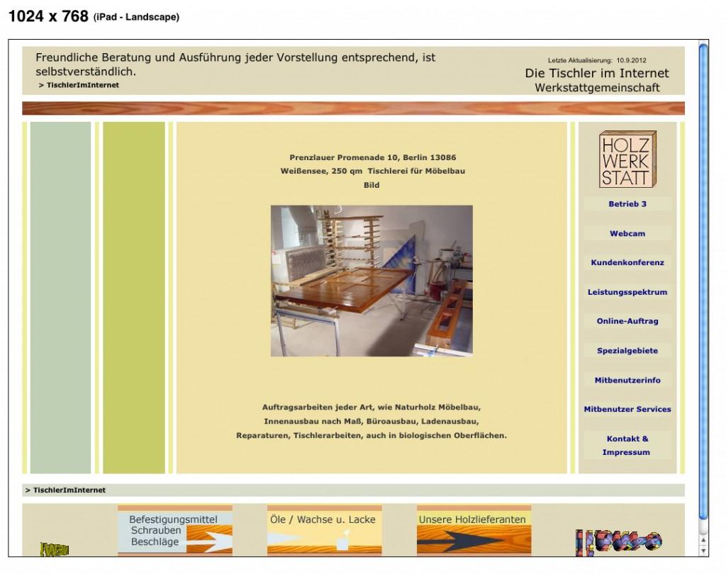 responsive webdesign iPad quer
