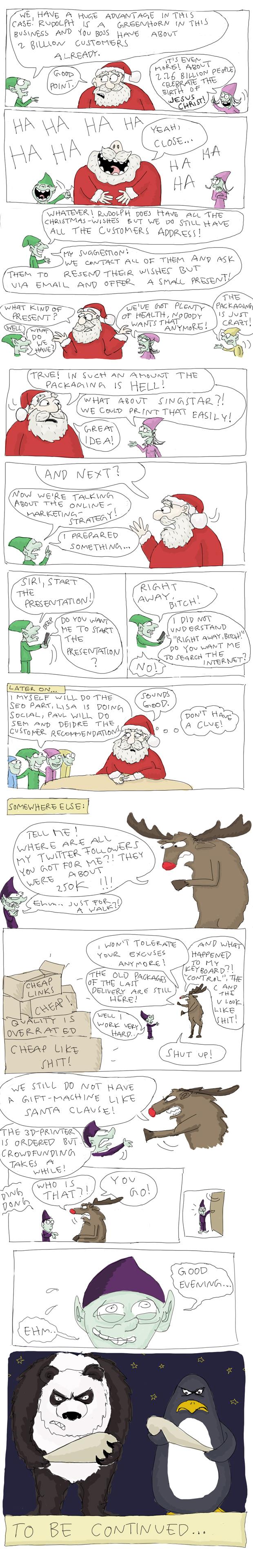 Santa and the Googlebots by Tobias Kerstin