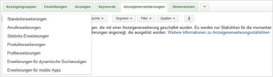 LoDiMa mit Google AdWords: Anzeigenerweiterungen