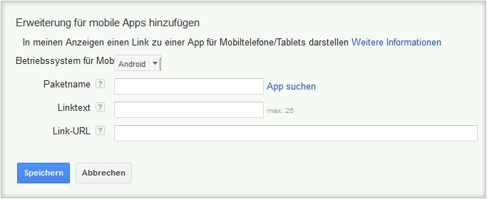 LoDiMa mit Google AdWords: Erweiterungen für mobile Apps