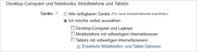 LoDiMa mit Google AdWords: Gerät
