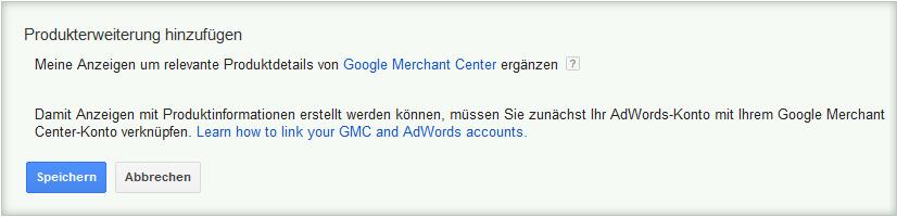 LoDiMa mit Google AdWords: Produkterweiterung