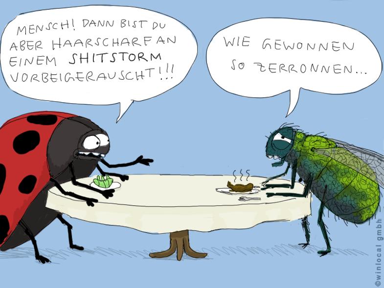 4 Shitstorms - 4 Cartoons! von Tobias Kerstin