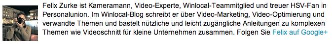 Winlocal Autor Felix Zurke vorgestellt