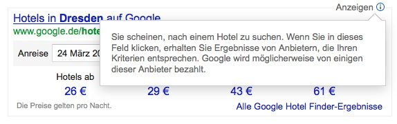 Google Antwortmaschine Hotelpartner