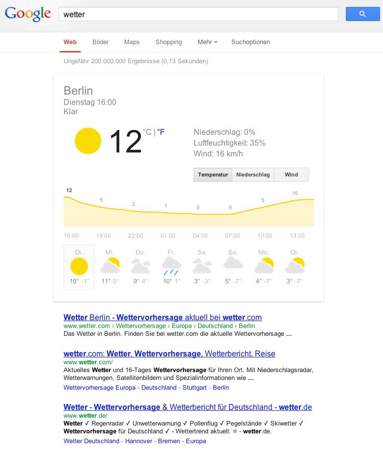 """Suchtreffer für """"Wetter"""""""