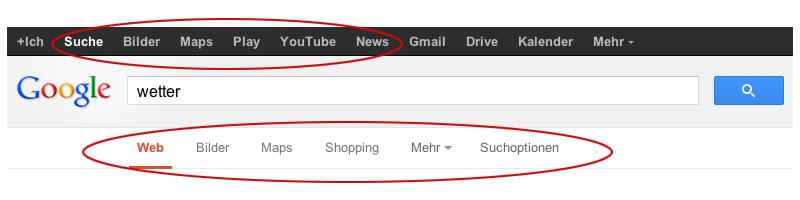 Googles Suchmaschinen