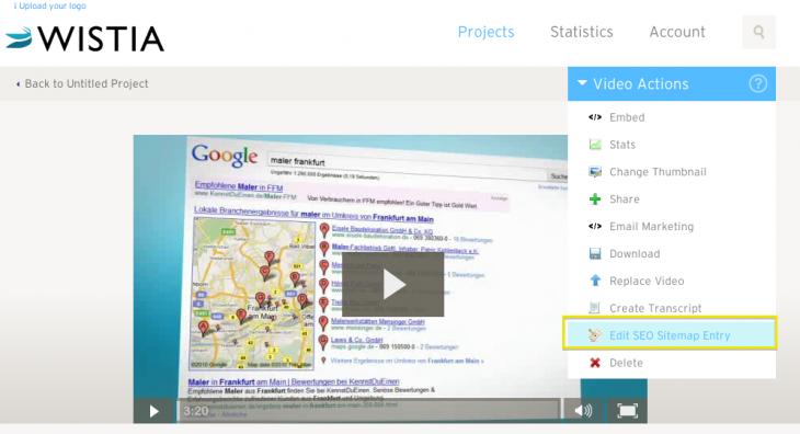 Sitemap Einstellungen Video Marketing Winlocal