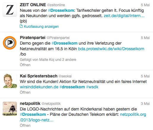 Drosselkom: aktuelles Beispiel für Netzaufruhr