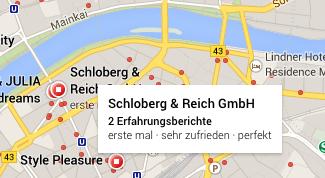 Google Maps Standorte