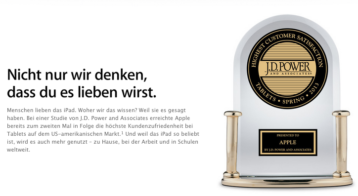 Texten wie apple Awards