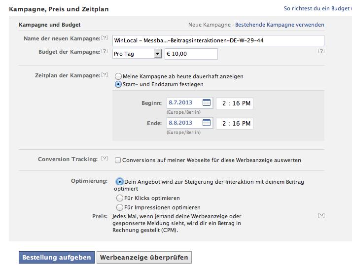 interaktion optimiert facebook ad video clip