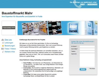 Baustoffmarkt-Mahr