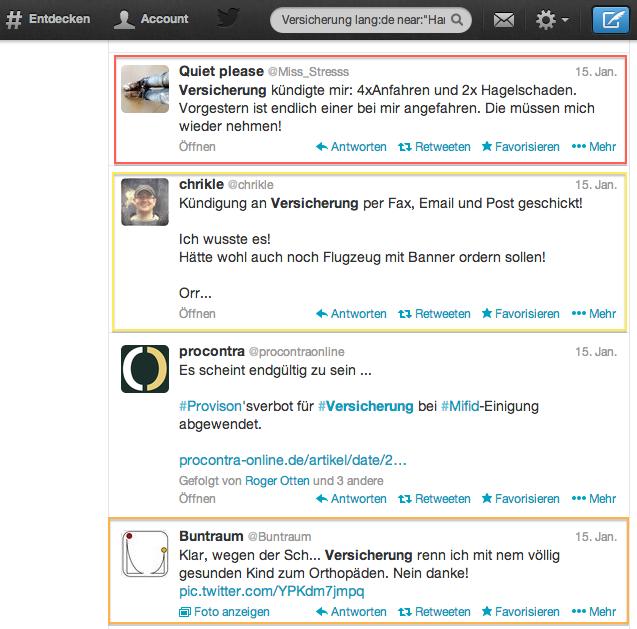 lokale twitter suche versicherung neukunden