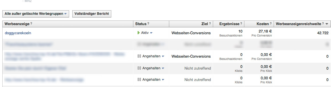 Beispiel-Anzeigenauswertung-Facebook-Ad-Conversion-Tracking