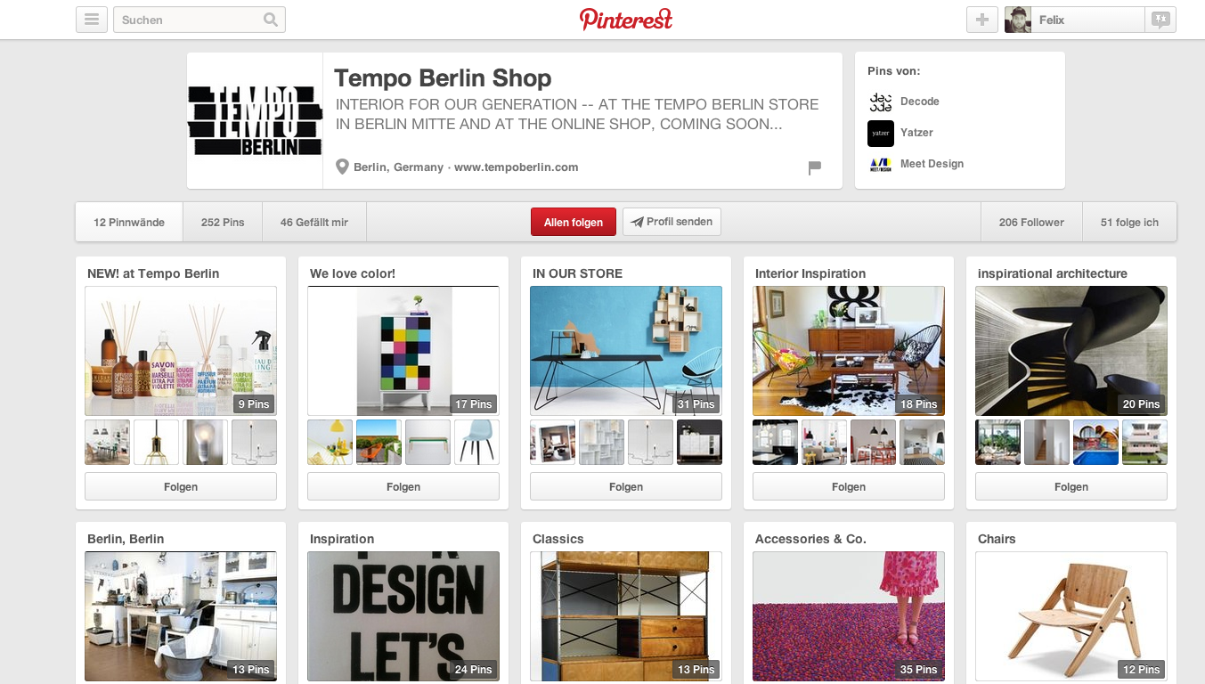 Tempo Berlin Shop Pinterest