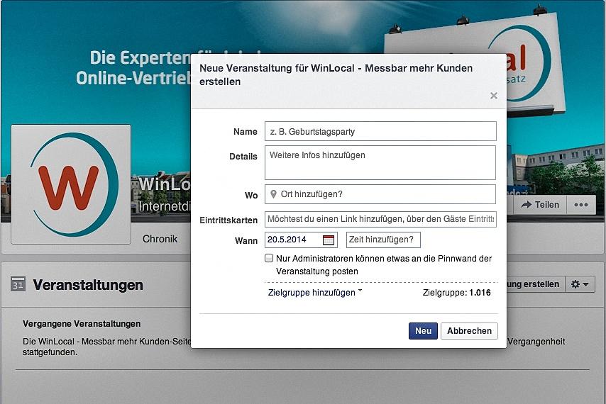 Facebook-Event-Erstellen