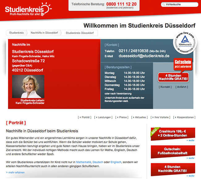Studienkreis-Kontaktseite