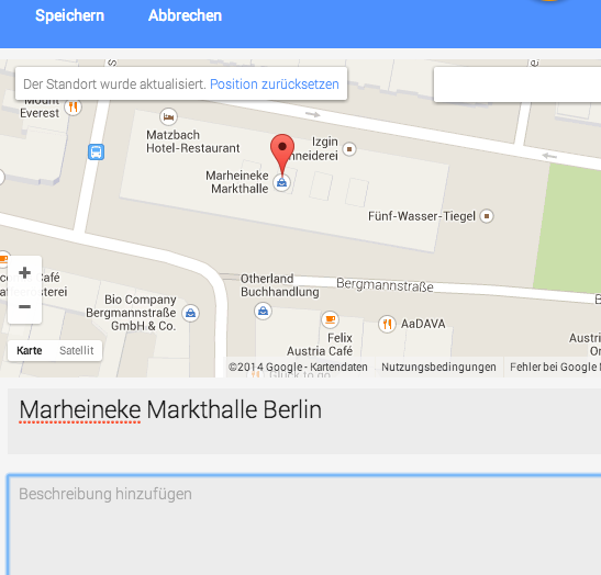 Google Maps Views Panorama bearbeiten