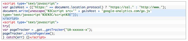 Klassisches Analytics Code Beispiel