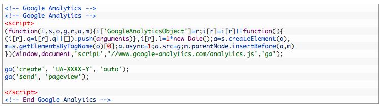 Universal Analytics Code Beispiel