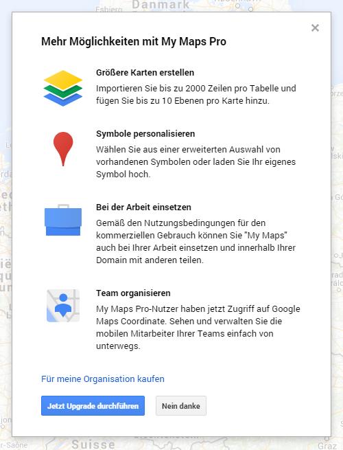 Vorteile von My Maps Pro