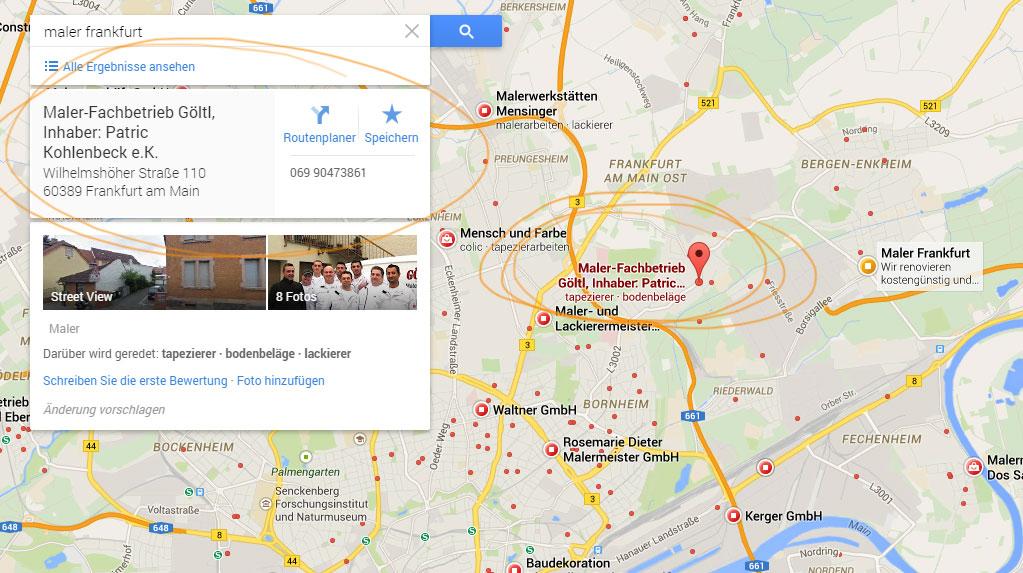 anruf zu google firmeneintrag